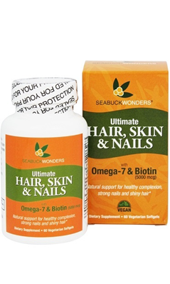BALANCEUTICALS: Ultimate Hair Skin & Nails W/Omega-7 & Biotin 60 softgel vegi