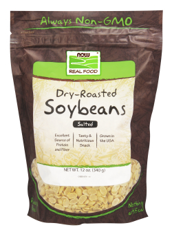 NOW: SOYBEANS SALTED NON-GMO  12 OZ 1
