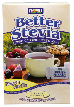 French Vanilla Stevia Extract Packets 75   Box from NOW