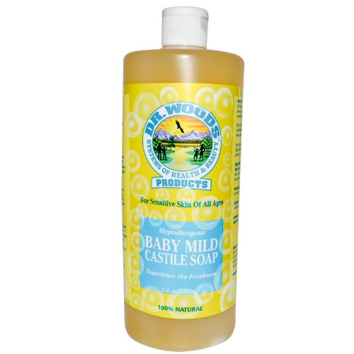DR WOODS: Castile Soap Liquid Baby Mild 32 oz