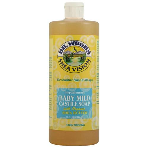 DR WOODS: Castile Soap Liquid Baby Mild with Shea Butter 16 oz