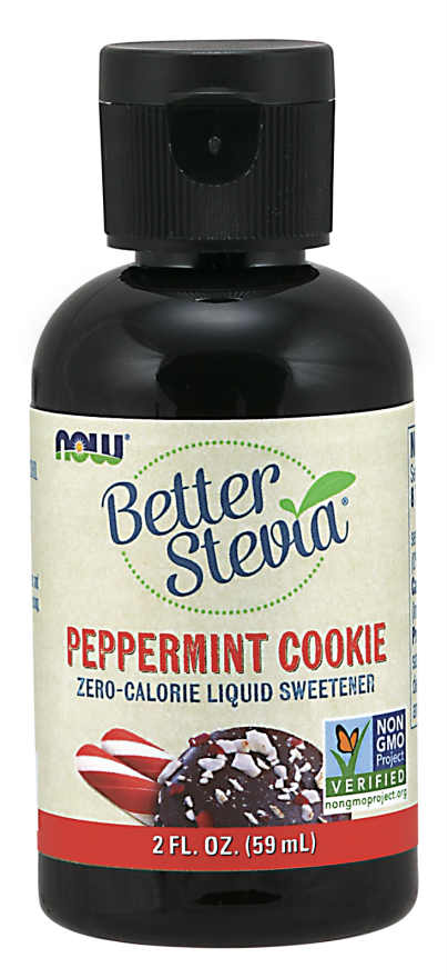 NOW: BetterStevia Liquid Peppermint Cookie 2 fl oz
