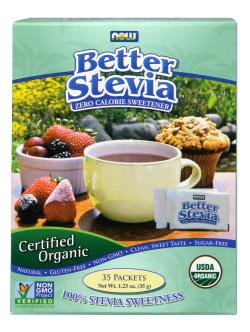 NOW: Better Stevia Organic 35 Packets