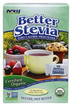 NOW: Better Stevia Organic 75 Packets