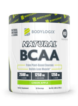 BODYLOGIX: Natural BCAA Green Apple Powder 8.67 ounce