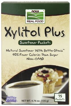 NOW: XYLITOL PLUS PACKETS 70  BOX
