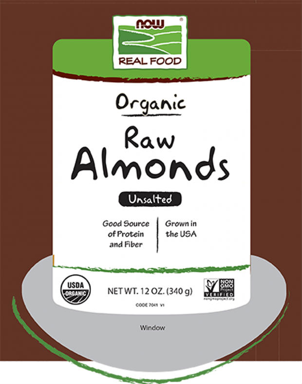 Organic Raw Almonds, 12 oz
