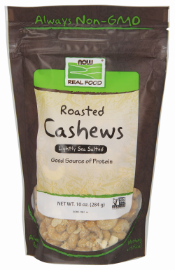 CASHEWS ROASTED & SALTED 10 OZ from NOW