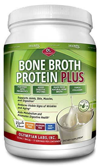 OLYMPIAN LABS: Bone Broth Protein Plus 13.5 oz