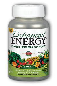 Kal: Kal enhanced energy with lutein iron-free 90ct 90ct