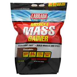 LABRADA NUTRITION: MUSCLE MASS GAINER CHOCOLATE 12 LBS