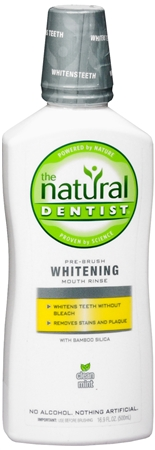 NATURAL DENTIST: Healthy White Whitening Pre Brush Rinse Clean Mint 16.9 oz