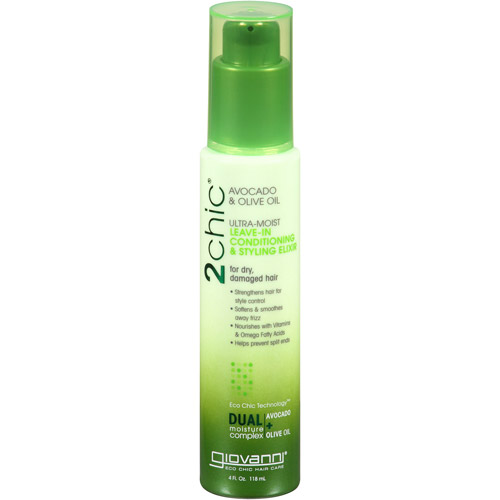 GIOVANNI COSMETICS: 2chic Avocado and Olive Oil Ultra-Moist Leave-in Conditioning Styling Elixir 4 oz