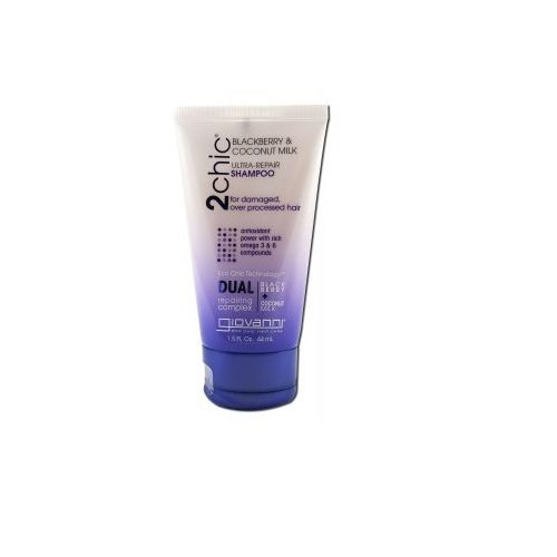 GIOVANNI COSMETICS: 2chic Ultra Repair Shampoo with Blackberry & Coconut Milk Travel Size 1.5 oz