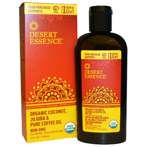 DESERT ESSENCE: Organic Coconut Jojoba & Coffee Oil 4 oz