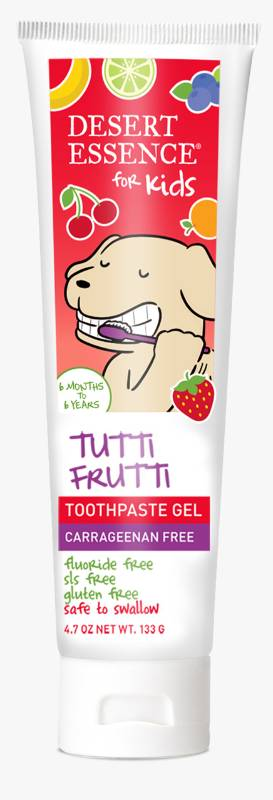 DESERT ESSENCE: Kid's Toothpaste Gel Tutti Frutti 4.7 OUNCE
