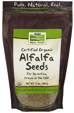 NOW: Alfalfa Seeds For Sprouting Certified Organic 12 oz