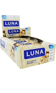 LUNA BAR WHITE CHOCOLATE MACADAMIA, 15/bx