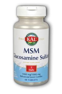 Kal: M.S.M. with Glucosamine Sulfate 60ct