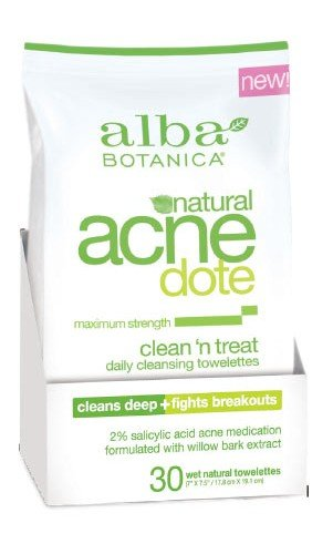 ALBA BOTANICA: AcneDote Clean and Treat Towelette 30 CT
