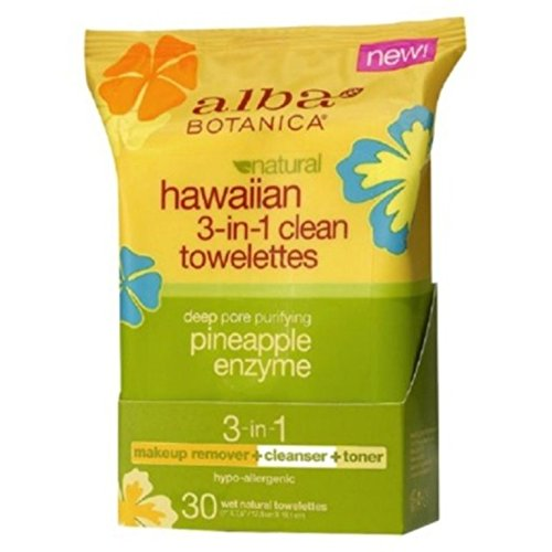 ALBA BOTANICA: Hawaiian 3-in-1 Clean Towelette 30 CTS