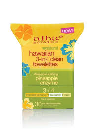 ALBA BOTANICA: 3-in-1 Clean Travel Towelettes Hawaiian 10 ct