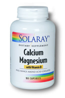Solaray: Calcium magnesium with vitamin d amino acid chelates 90ct