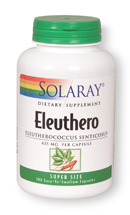 Solaray: Eleuthero 180ct 425mg