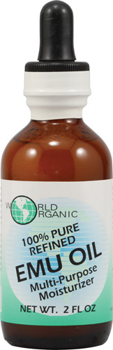 WORLD ORGANICS: EMU Oil 100 Percent pure With Dropper 2 oz