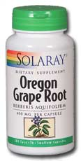 Solaray: Oregon Grape Root 100ct 400mg