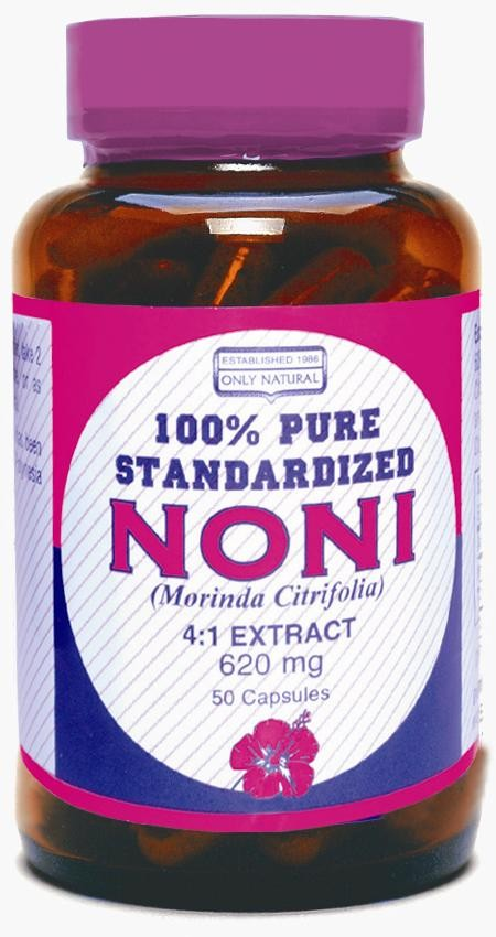 Noni Concentrate 650 Mg: Noni 4:1 Extract 620mg 50 Caps, $12.59ea From ONLY NATURAL