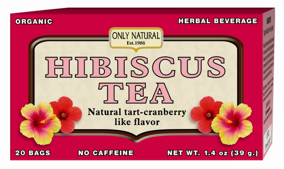 ONLY NATURAL: Hibiscus Tea Organic 20 bags