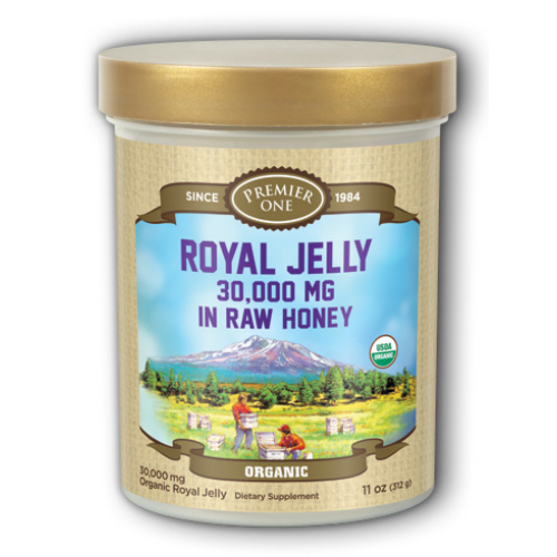 Organic Royal Jelly in Raw Honey Dietary Supplement