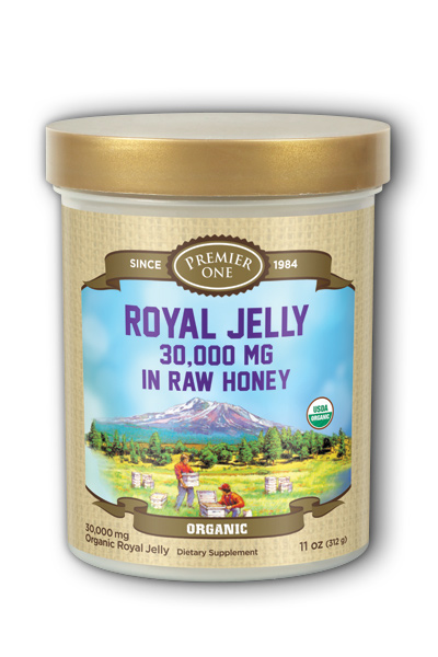 Premier One: Organic Royal Jelly in Raw Honey 11 oz Honey