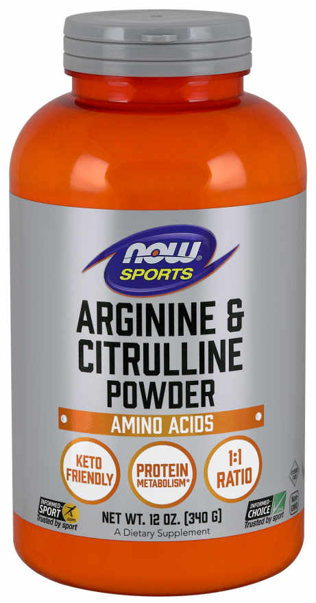 NOW: Arginine & Citrulline Powder 12oz