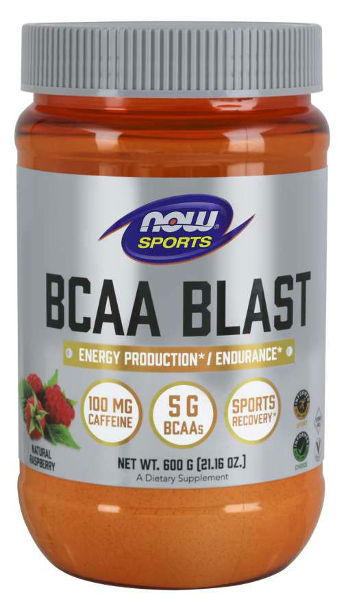 NOW: BCAA Blast Powder Natural Raspberry Flavor 600 Grams