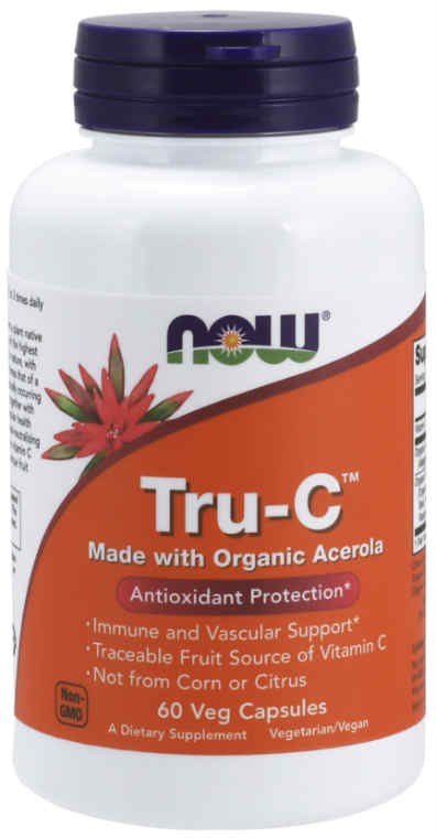 NOW: Tru-C Made With Organic Acerola 60 Veg Caps