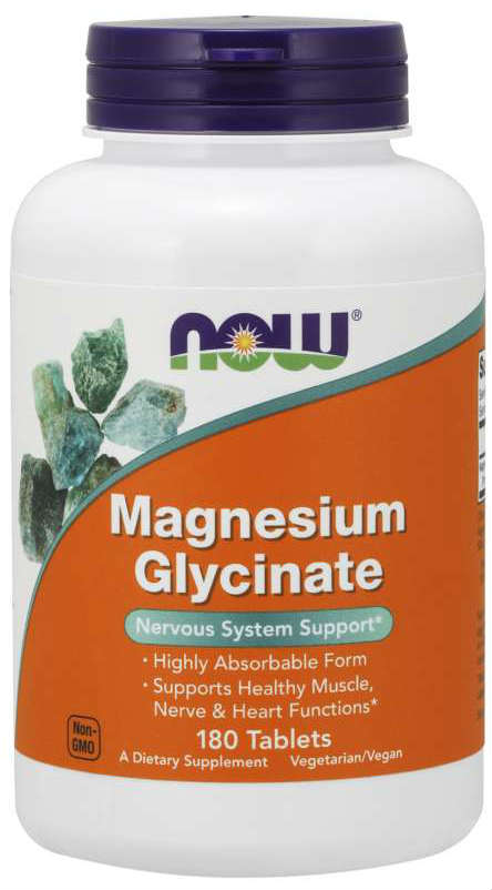 NOW: Magnesium Glycinate 180 Tablets