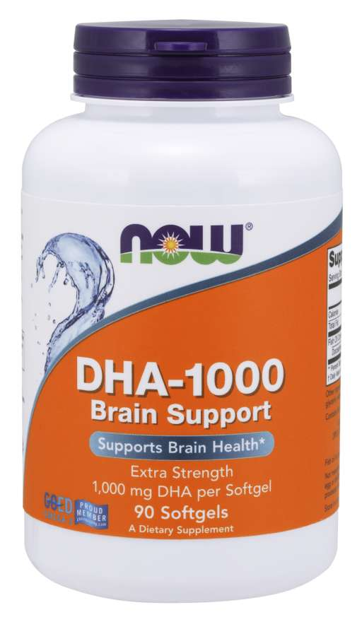 NOW: DHA-1000 Brain Support Extra Strength 90 Softgela