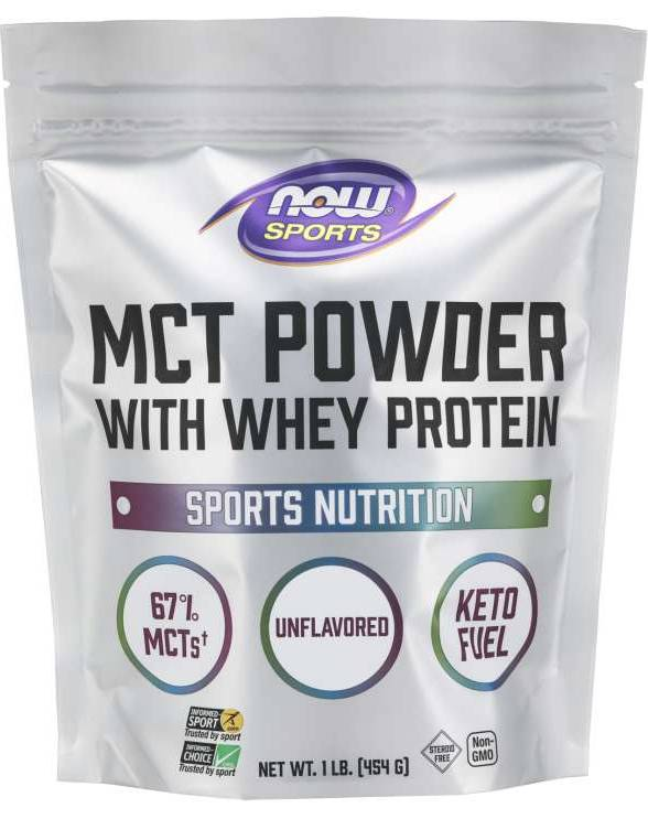 NOW: MCT Powder Unflavored With Whey Protein 1 Lb