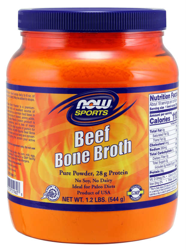 NOW: Beef Bone Broth Pure Powder 1.2lbs