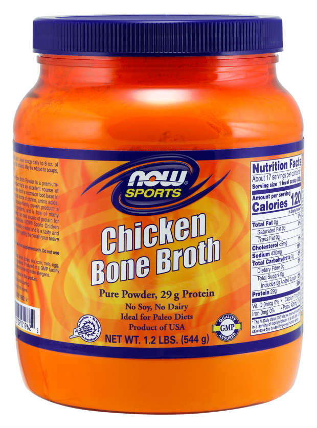 NOW: Chicken Bone Broth Pure Powder 1.2lbs