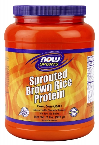 NOW: Sprouted Brown Rice Protein 2 lb