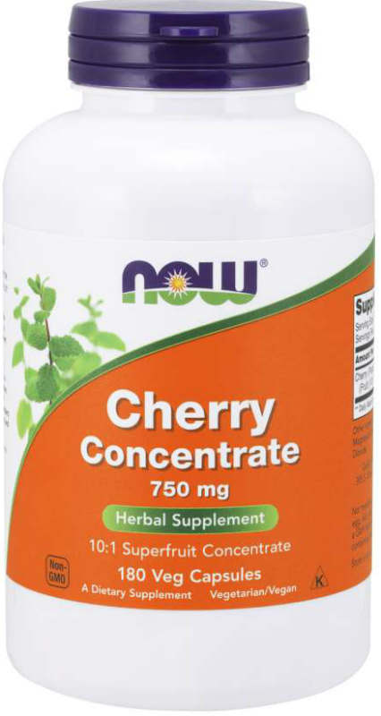 NOW: Black Cherry Fruit Concentrate 750mg 180 Vcaps