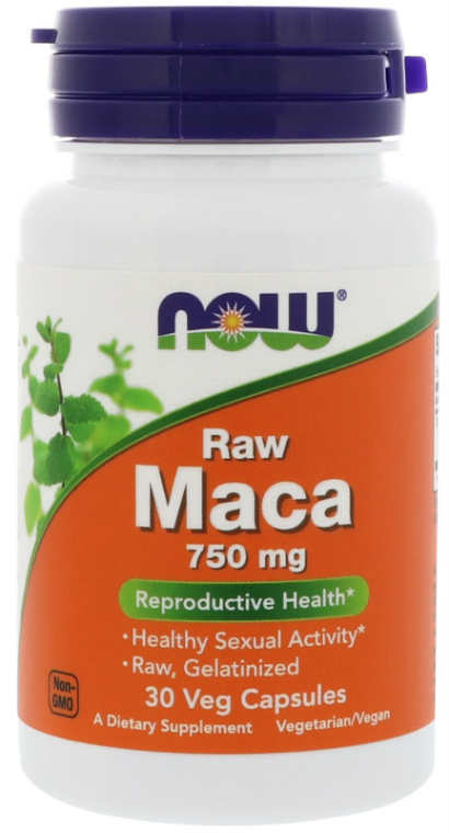 NOW: Raw Maca Root 750mg 30 Veg Caps