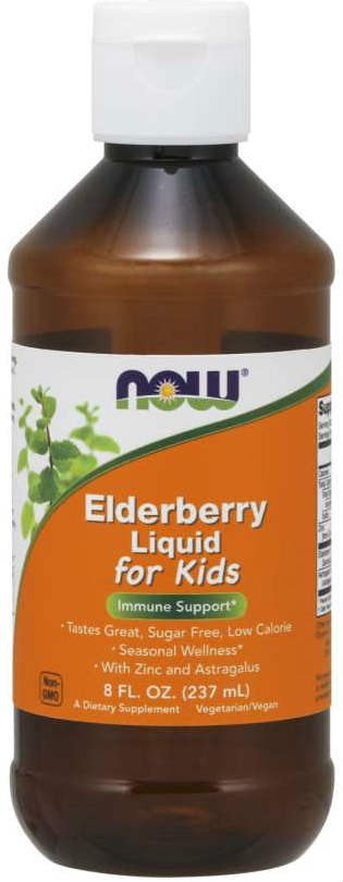 NOW: Elderberry Liquid for Kids 8 fl oz
