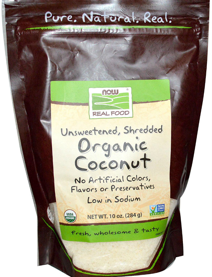 Certified Organic Desiccated Coconut Unsweetened, 10 oz. Finely Shredded