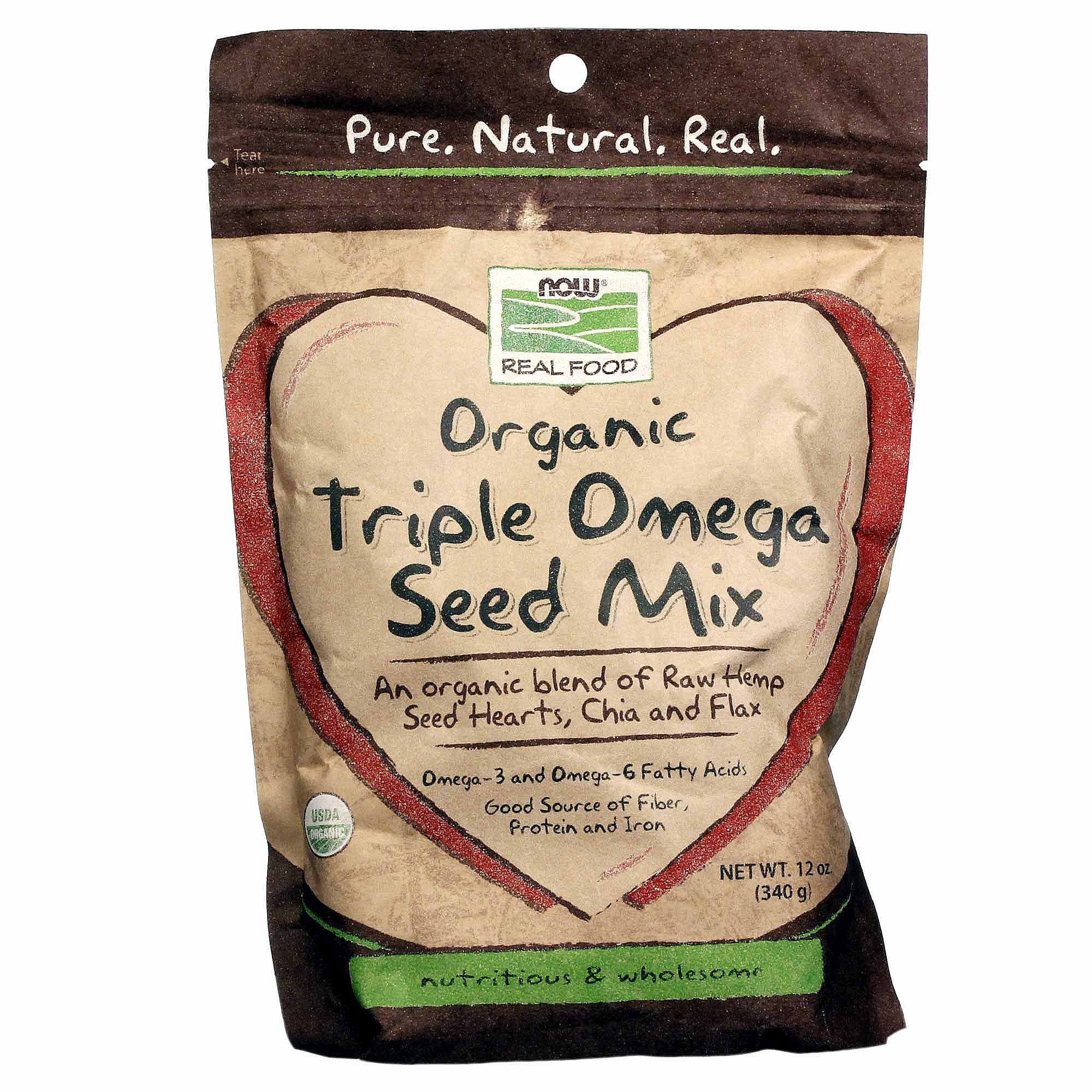 NOW: Organic Triple Omega Seed Mix 340 Grams