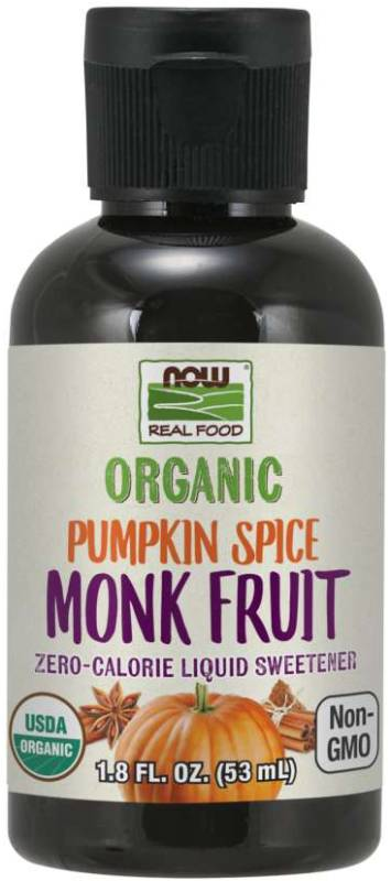 NOW: Organic Liquid Monk Fruit Pumpkin Spice 1.8 fl oz
