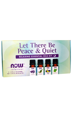 Let There Be Peace And Quiet Relaxing Essential Oils Kit 4 bottle kit from NOW